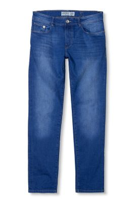 Esprit / Basic Stretch-Jeans in kräftigem Blau