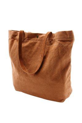 Esprit / Canvas shopper + leather handles