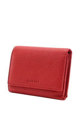 Esprit / Leder-Geldbörse mit Druckknopf-Klappe