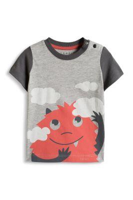 Esprit / Colourblock T-Shirt mit Print, Baumwolle