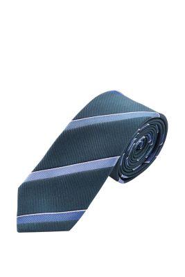 Esprit / Gestreifte Krawatte, 100% Saide