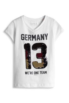 Esprit / Fußball-Shirt mit Pailletten in Landesfarben