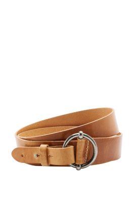 Esprit / Breiter Ledergürtel mit Ringschließe