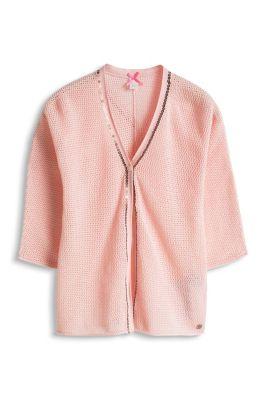 Esprit / Cardigan mit Pailletten, 100% Baumwolle