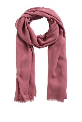 Esprit / Floaty scarf with a fringe