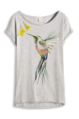 Esprit / Shirt mit Motiv-Print, 100% Baumwolle