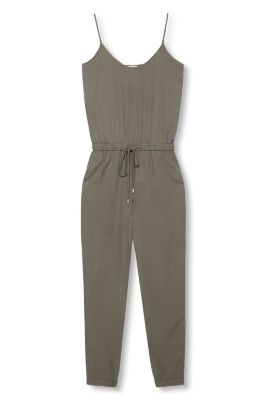 Esprit / Flowing jumpsuit with drawstring waist