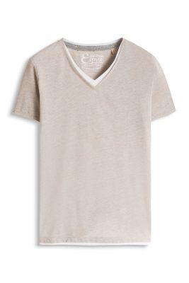 Esprit / T-shirt jersey de coton mélangé, superposé