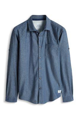 Esprit / Baumwoll Chambray Hemd mit Print