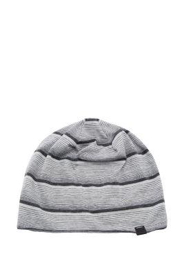 Esprit / Gestreifte Jersey Mütze aus Baumwoll-Mix
