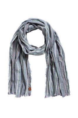Esprit / Foulard à carreaux en pur coton