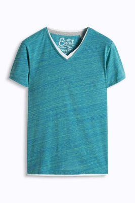 Esprit / Flammé Jersey T-Shirt mit Layerings