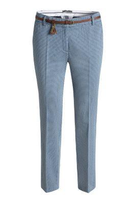 Esprit / Stretch Print Baumwollhose mit Gürtel