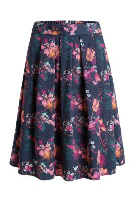 Esprit / Floral print midi skirt with zip