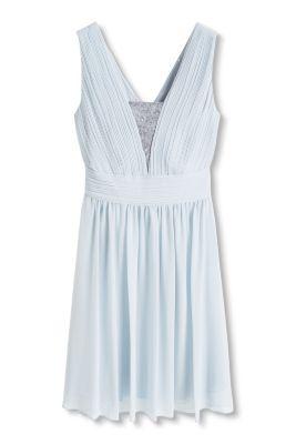 Esprit / Fließendes Chiffon-Kleid mit Pailletten