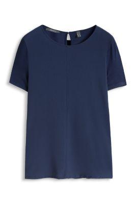 Esprit / Fließendes Stretch Shirt im Materialmix