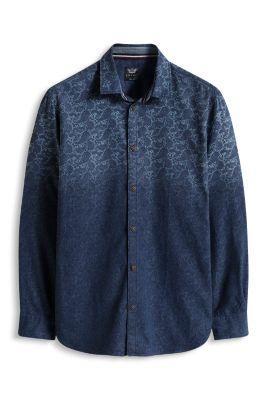 Esprit / Dip-dyed overhemd met print, 100% katoen