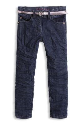 Esprit / Stretch-Denim Jeans mit Metallic-Gürtel