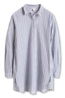Esprit / Gestreifte Hemdbluse, 100% Baumwolle