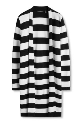 Esprit / Silky, striped long cardigan
