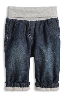 Esprit / Jeans m. Umschlagbund, 100% Baumwolle