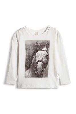 Esprit / Print Longsleeve, 100% Baumwolle