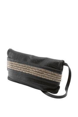 Esprit / clutch with a decorative front strap
