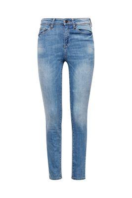 Esprit / High-Waist-Jeans aus bleached Denim