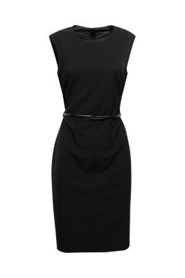 Esprit / basic stretch business dress + belt