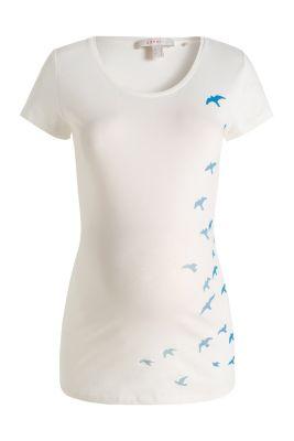 Esprit / Baumwoll-Stretch-Shirt mit Möven-Print