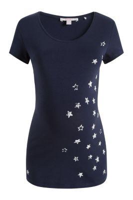 Esprit / Loungewear-shirt van katoen/stretch