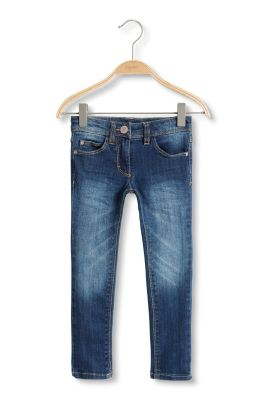 Esprit / Soft stretch jeans with adjustable waistband